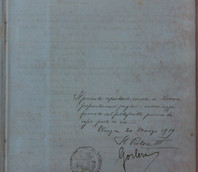 Il frontespizio del Registro di repertorio n. 1del Regio Provveditorato al Porto