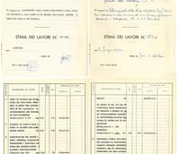 Bozza e originale della Stima dei lavori