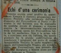 Articolo de Il Gazzettino del 28/08/1929