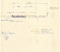 Schizzo del progetto di allargamento della sede stradale, datato 31/07/1962.