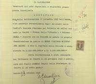 Dichiarazione di mutamento della denominazione della società del 17/11/1949.
