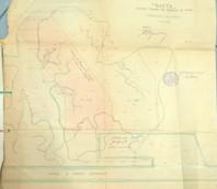 Disegno del porticciolo dei petroli, in scala 1:2000 con indicate a colori le ar