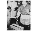 16/03/1957 - Il Patriarca di Venezia, Card. Angelo Giuseppe Roncalli, pone la pr