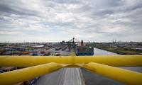 Veduta del terminal container del Porto di Venezia