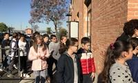 I bambini arrivano nella sede dell'Autorità di Sistema Portuale