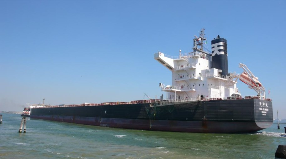 The single largest agribulk cargo arriving at the Port of Venice for Nidera, a b