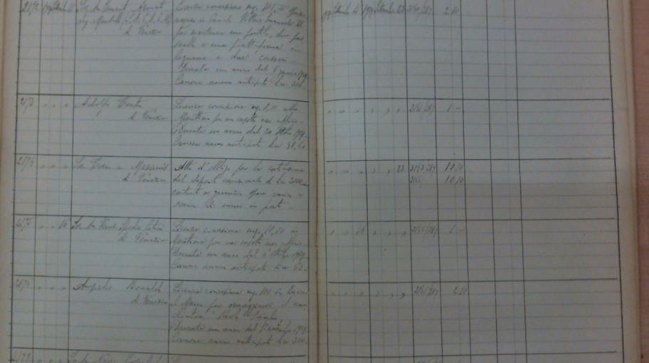 La pagina del registro di repertorio su cui è registrato l'atto, col n. 2175.