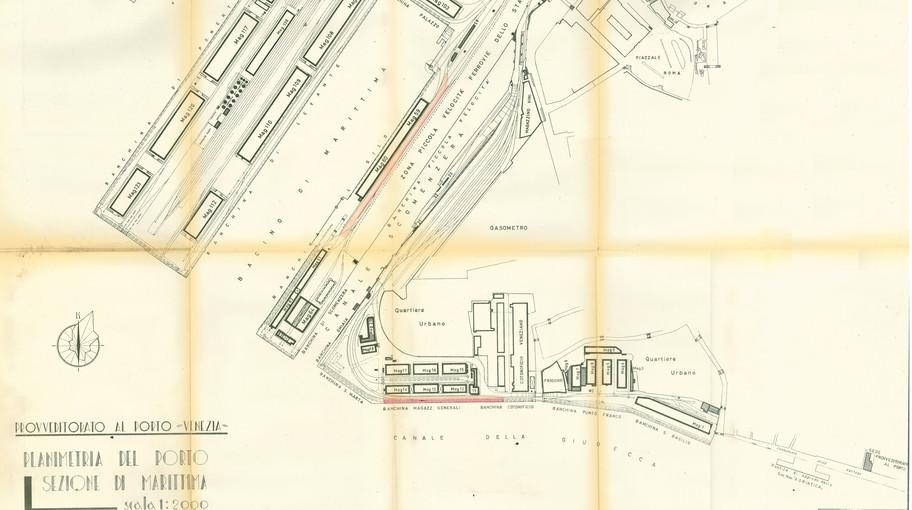 Planimetria della sezione di Marittima del Porto di Venezia