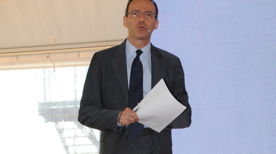 Il moderatore Andrea Cabrini