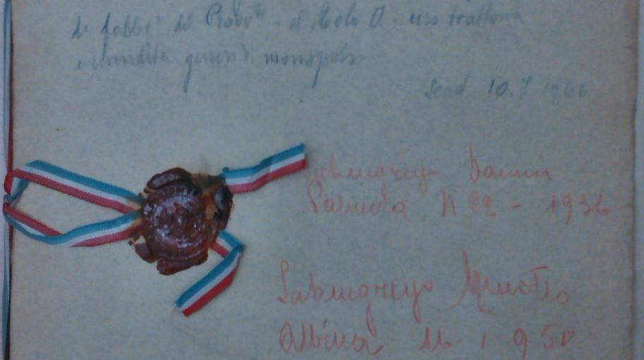 Camicia contenente l'atto, con sigillo di ceralacca con il timbro