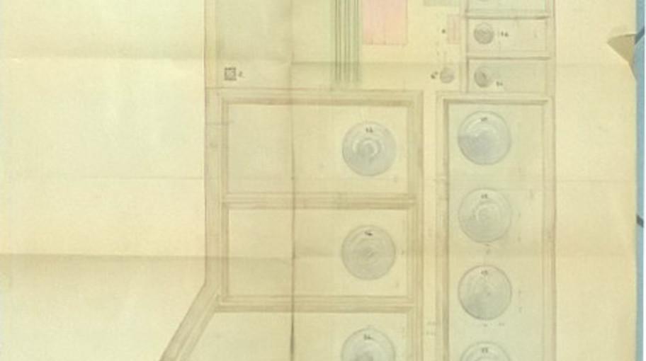 """Planimetria generale dello stabilimento """"Nafta"""" di Venezia"""