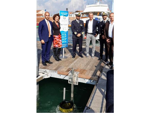 Inaugurazione del SeaBin all'isola della Certosa