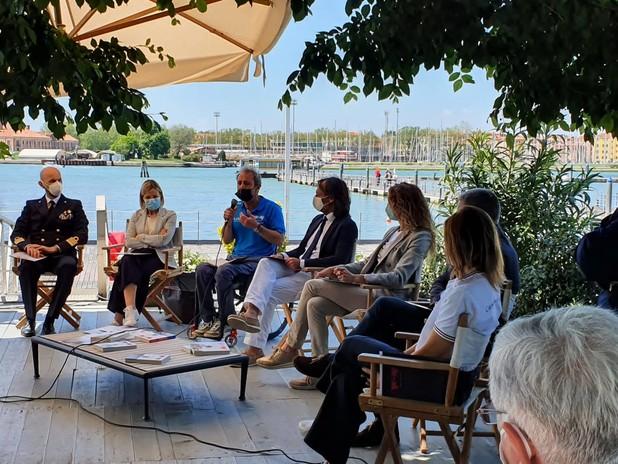 Immagine della conferenza stampa del progetto WOW 2021 che si è tenuta a Venezia
