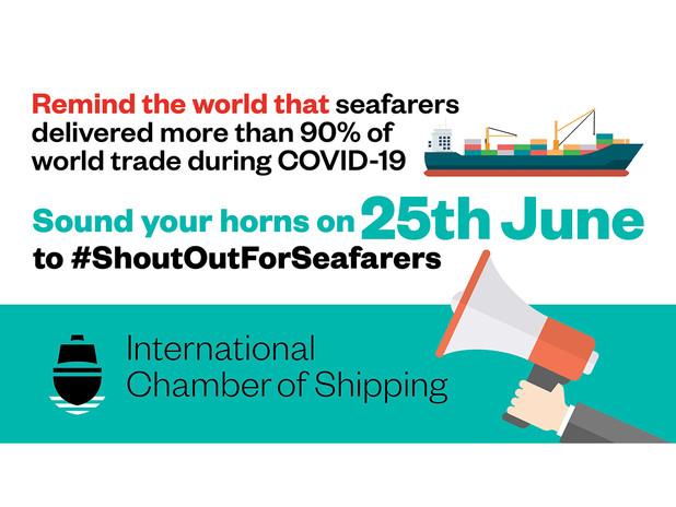 #ShoutOutForSeafarers: DAY OF THE SEAFARER, 25 June 2021, h 12.00