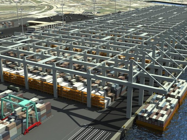 Rendering of the New Container Terminal