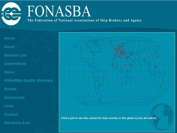 Schermata del sito web del FONASBA