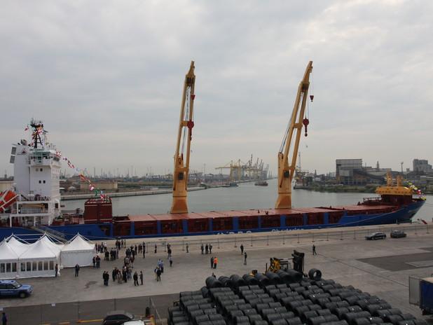 La BBC Everest ormeggiata al terminal Transped del Porto di Venezia