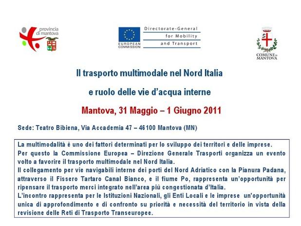 Il trasporto multimodale nel Nord Italia e il ruolo delle vie d'acqua interne