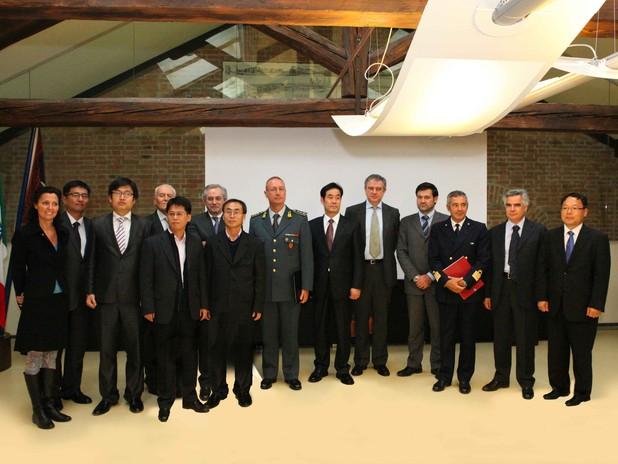 La delegazione delle dogane coreane all'Autorità Portuale di Venezia