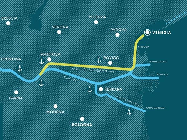 Rete di navigazione interna Porto di Venezia - Porto di Mantova Valdaro