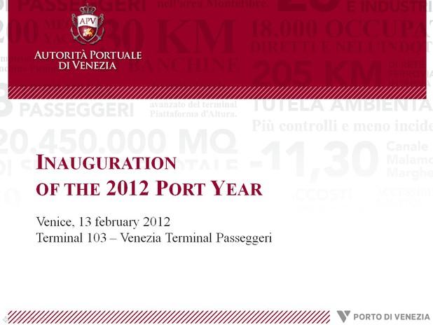 2012 Port Year Inauguration