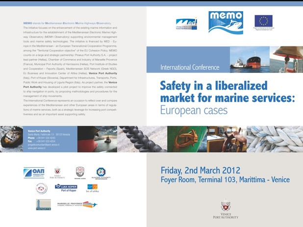 "International conference ""Safety in a liberalized market for marine services: eu"