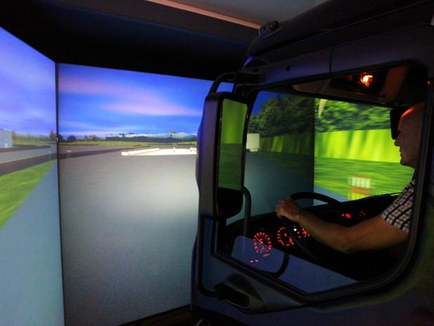 Un' immagine del simulatore in funzione