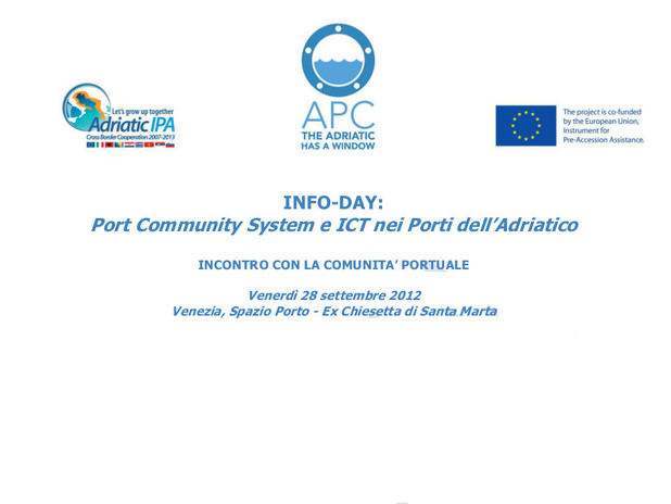 Port Community System e ICT nei porti dell'Adriatico
