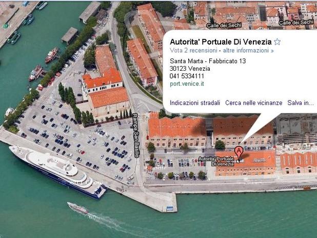 La sede dell'Autorità di Sistema Portuale del Mare Adriatico Settentrionale su G