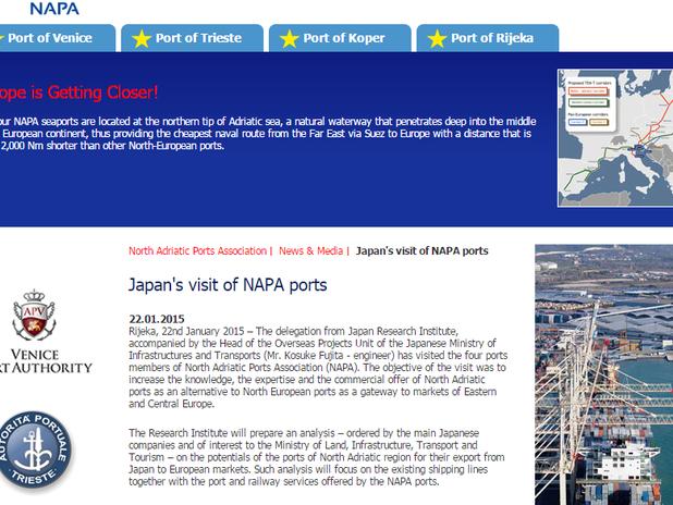 Japan's visit of NAPA ports