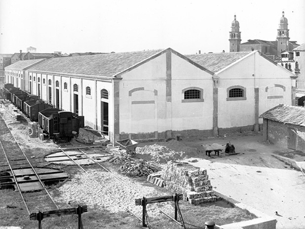 Il terminal San Basilio in una foto storica dell'archivio APV