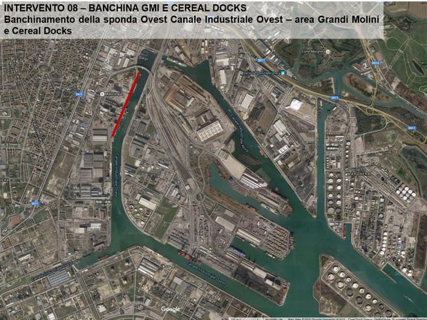 Evidenziata in rosso l'area sede dell'intervento descritto