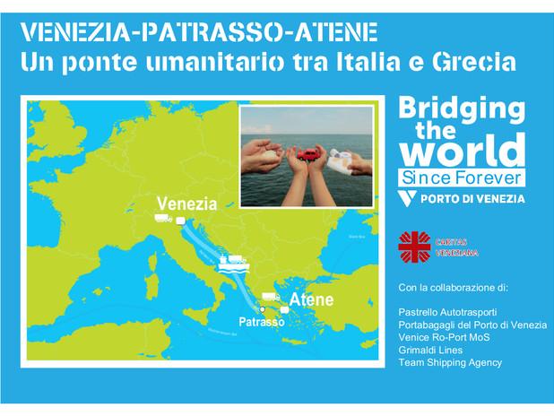 Venezia - Patrasso - Atene. Un ponte umanitario tra Italia e Grecia