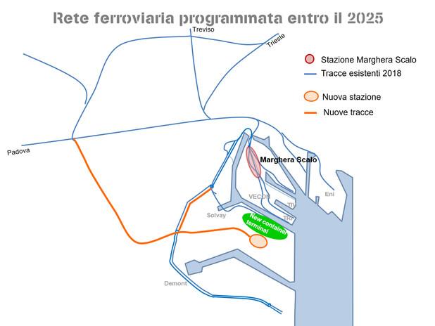 Investimenti programmati entro il 2025
