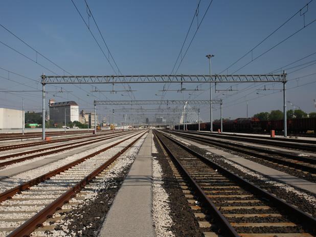 Manovre ferroviarie nel porto di Venezia