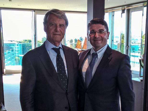 Il Presidente AdSP Pusolino con Gianluigi Aponte di MSC