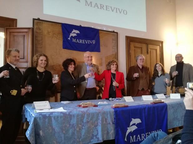 Brindisi finale con la Presidente Rosalba Giugni, AdSP, CP, Ispra, Legapesca, Ca