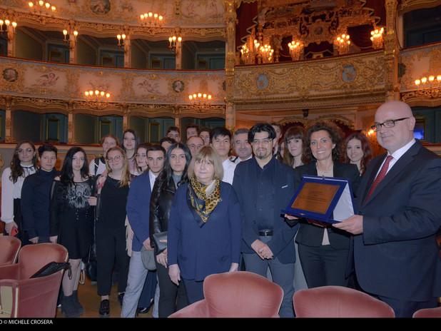 Il sovrintendente Fortunato Ortombina e Federica Bosello, Responsabile Promozion