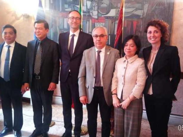 Un'immagine della delegazione