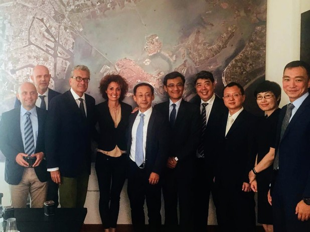 The Chinese port of Tianjin visits the port of Venice