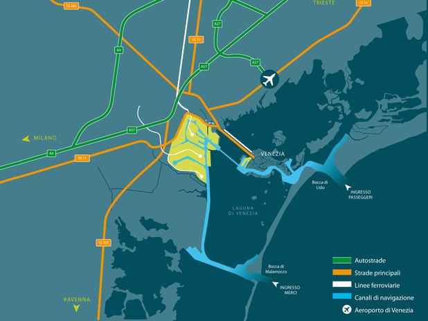 Accessibilità nautica, ferroviaria e stradale dell Porto di Venezia