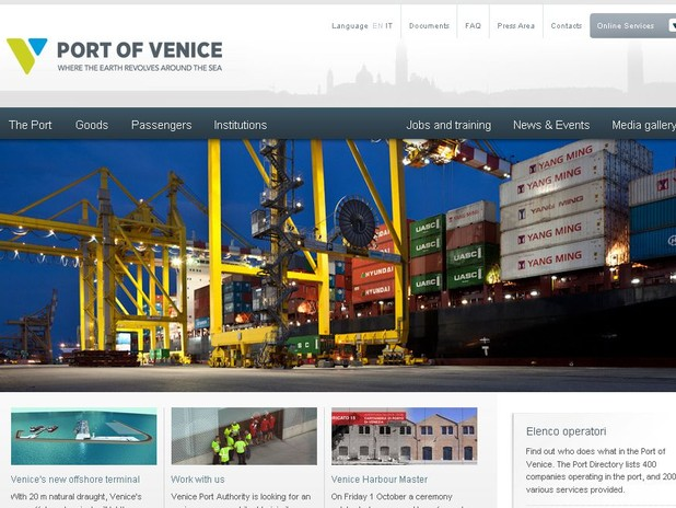 Port of Venice new web site