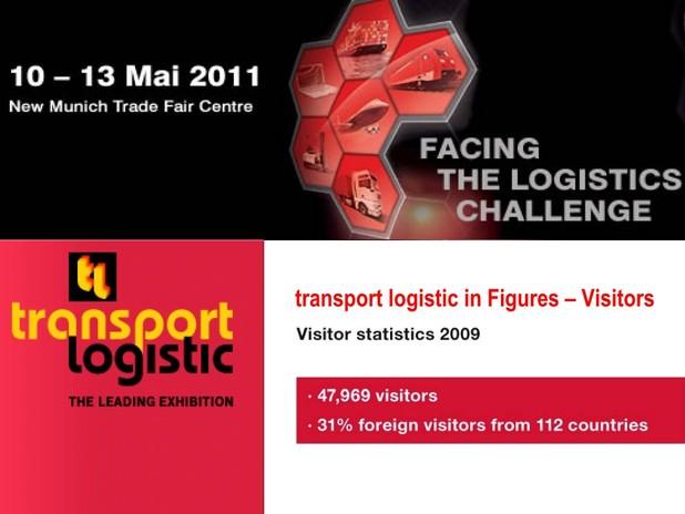 Schermata del sito web di Transport Logistc 2010