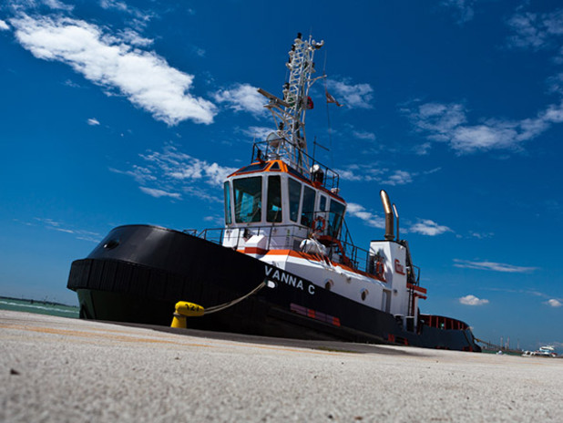 A tug in the Port of Venice