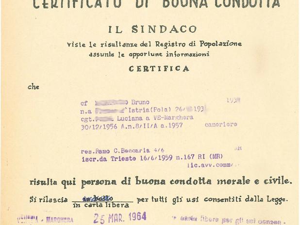 Certificato di buona condotta