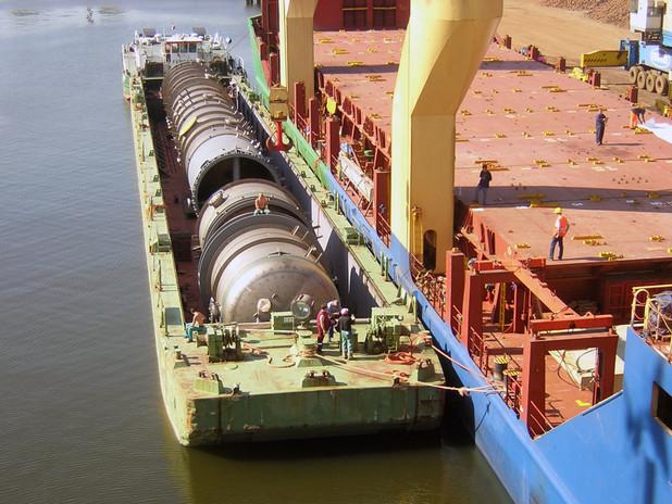 Inland waterways port