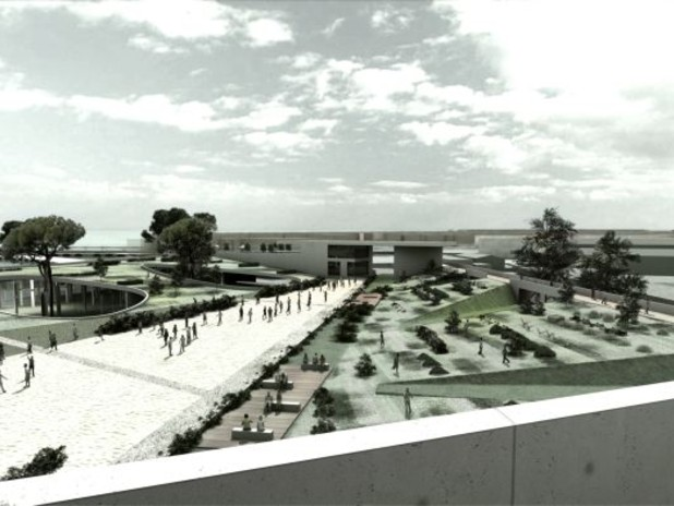 Rendering della nuova porta per Venezia - Garage multipiano e opere conne
