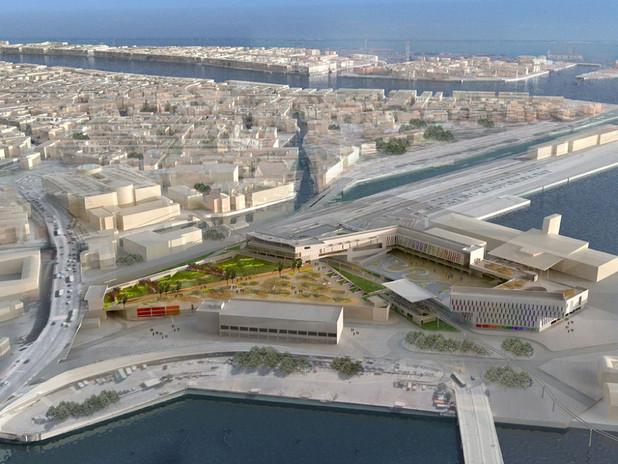 Rendering della nuova porta per Venezia - Garage multipiano e opere connesse