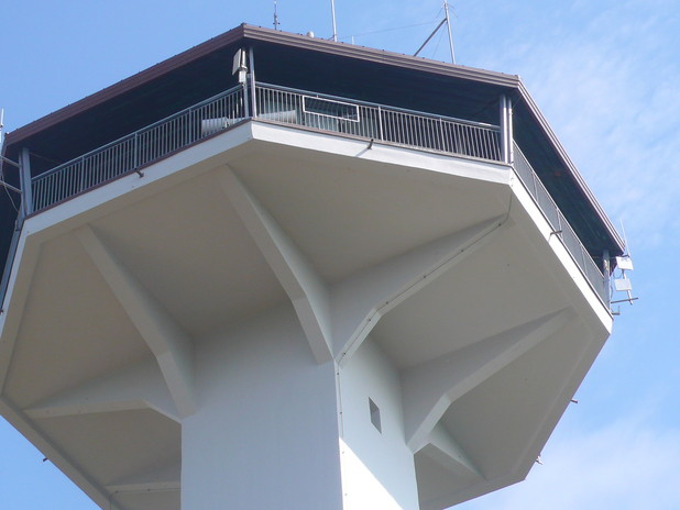 Similar to an air-traffic control tower, it follows ships sailing from sea to be