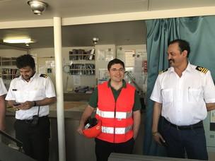 Il Presidente Musolino visita l'equipaggio di una nave